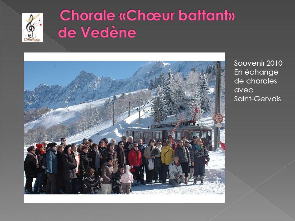 Souvenir 2010 En échange de chorales avec Saint-Gervais