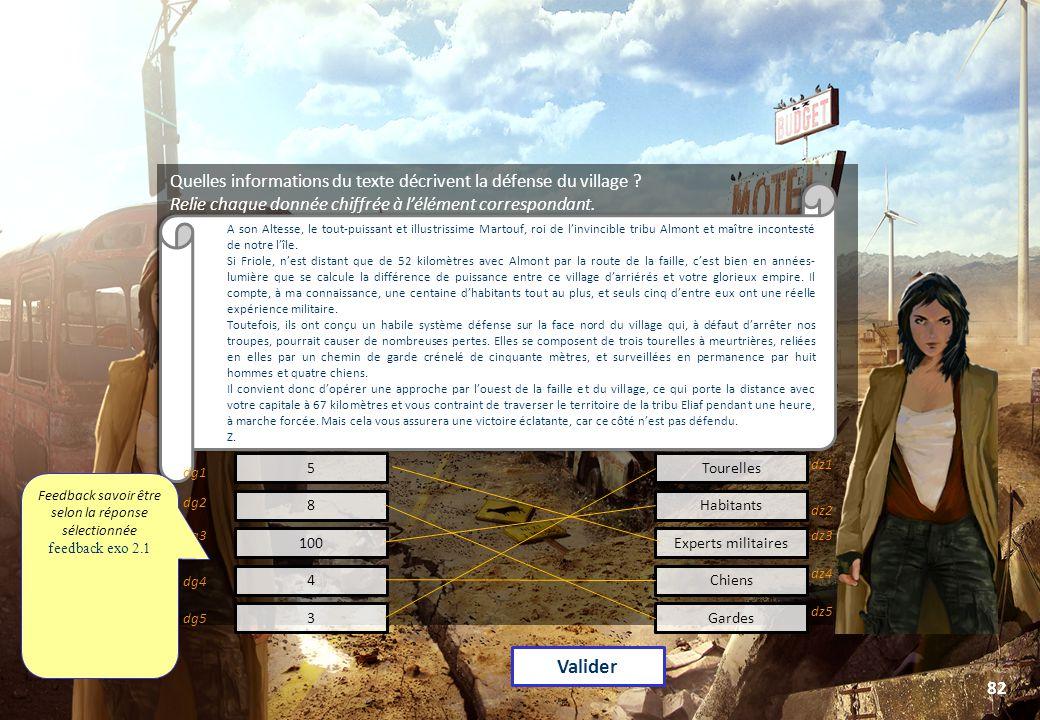 © Toute utilisation, exploitation ou diffusion de ce document en dehors du cadre d'origine est soumise à l'autorisation écrite de la société Paraschool 82 Quelles informations du texte décrivent la défense du village .