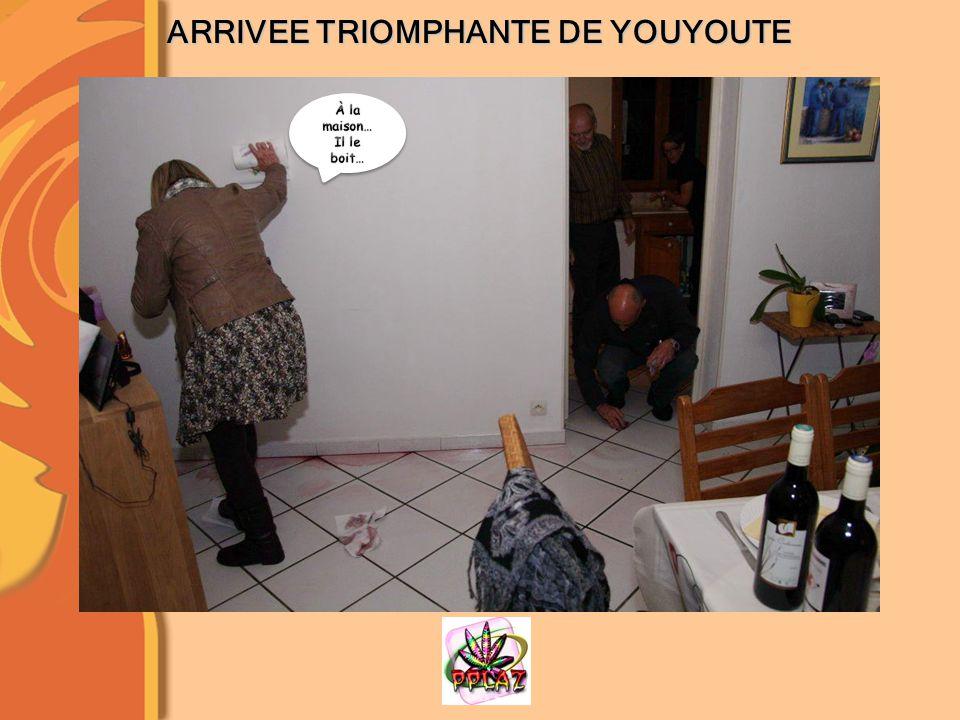ARRIVEE TRIOMPHANTE DE YOUYOUTE