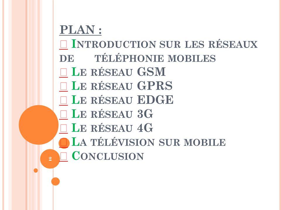 L ES RÉSEAUX GSM, 3G, UMTS, 4G,GPRS. *L A TÉLÉ SUR MOBILE * Projet développé par Aymen BEN MHAMED IF3 AMPHI-B- GR03 1