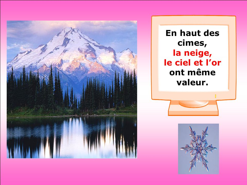 .. Mon chemin ce n'est pas un chemin c'est la neige. Gilles Vigneault