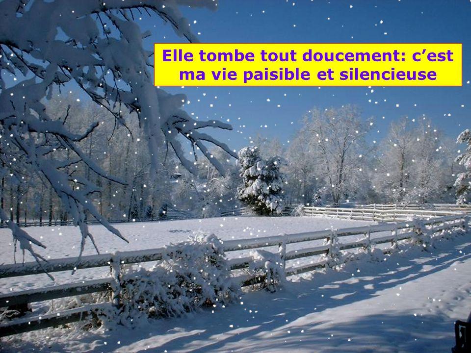 .. La neige tombe du ciel Elle nous arrive à l'improviste parfois tout doucement, parfois en poudrerie, parfois en tourbillons. Elle tombe aussi en fi