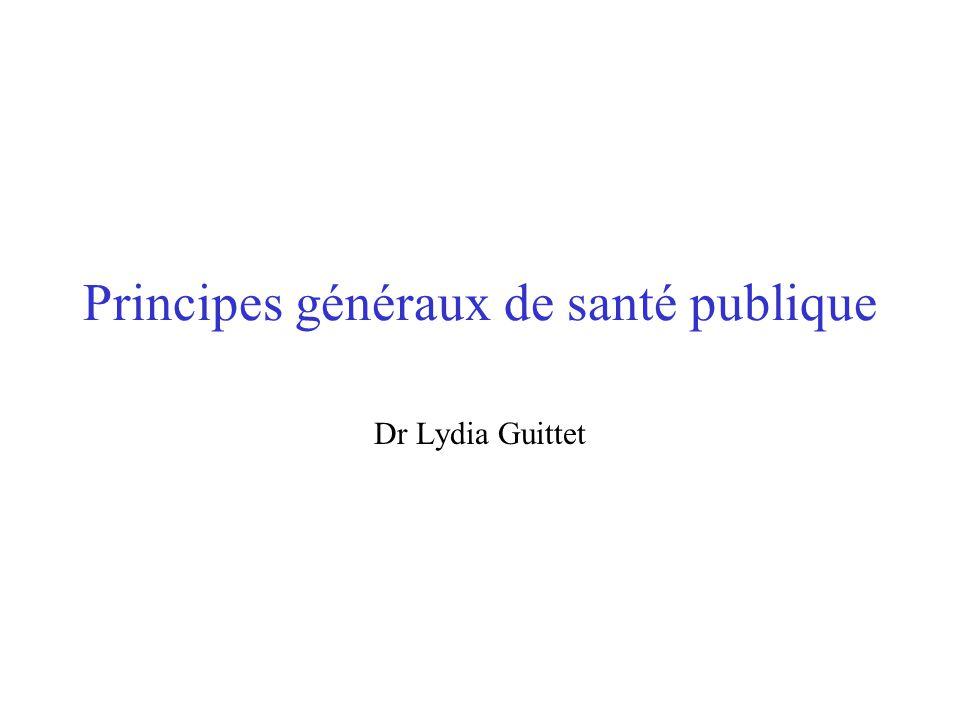 Principes généraux de santé publique Dr Lydia Guittet