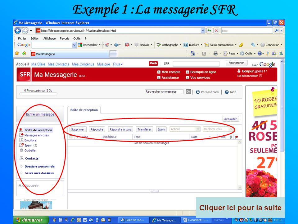 La messagerie opérateur Chaque opérateur possède sa présentation de messagerie Chaque messagerie est crée sur un principe identique. - Un dossier boit