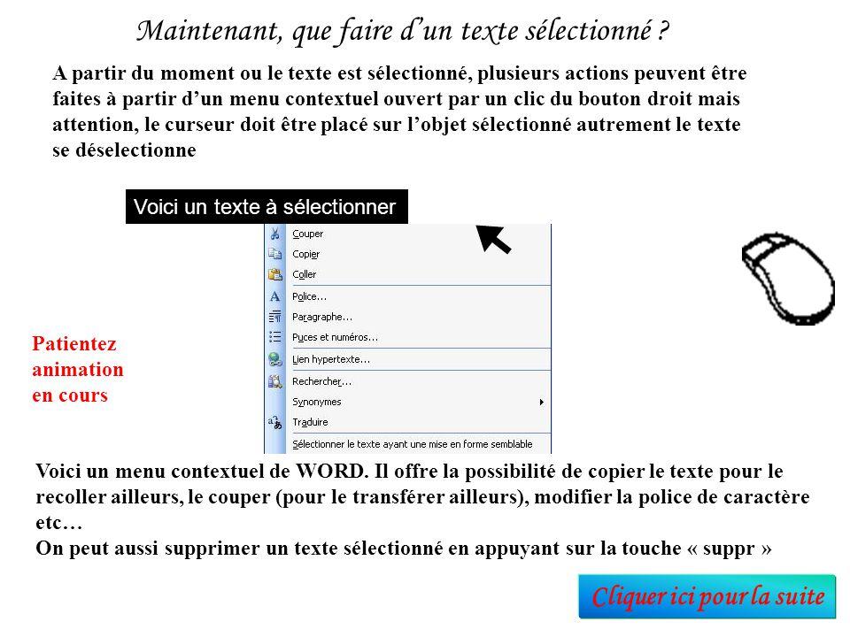 Tout d'abord, apprenons à sélectionner par glissé de la souris Placer le curseur de souris à gauche ou à droite du texte (le curseur devient un trait