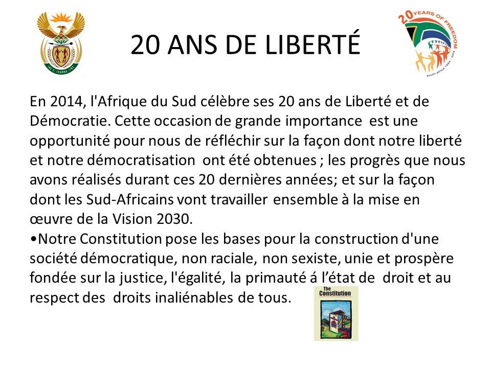 20 ANS DE LIBERTÉ continue Un des moments symboliques de la transition du passé fut la montée du nouveau drapeau en 1994.
