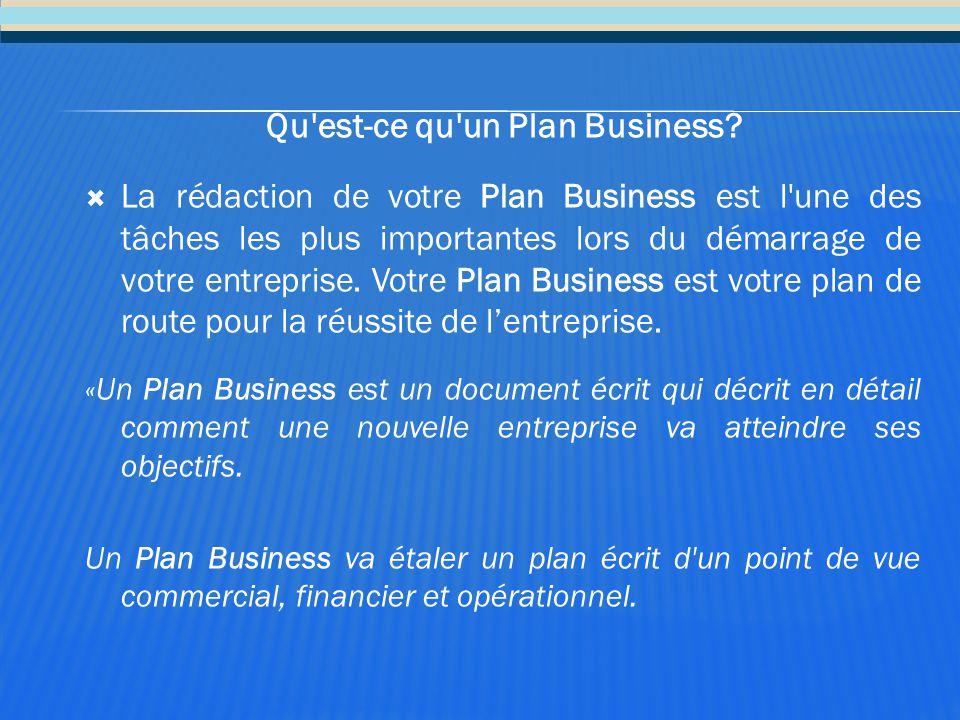 Qu'est-ce qu'un Plan Business?  La rédaction de votre Plan Business est l'une des tâches les plus importantes lors du démarrage de votre entreprise.