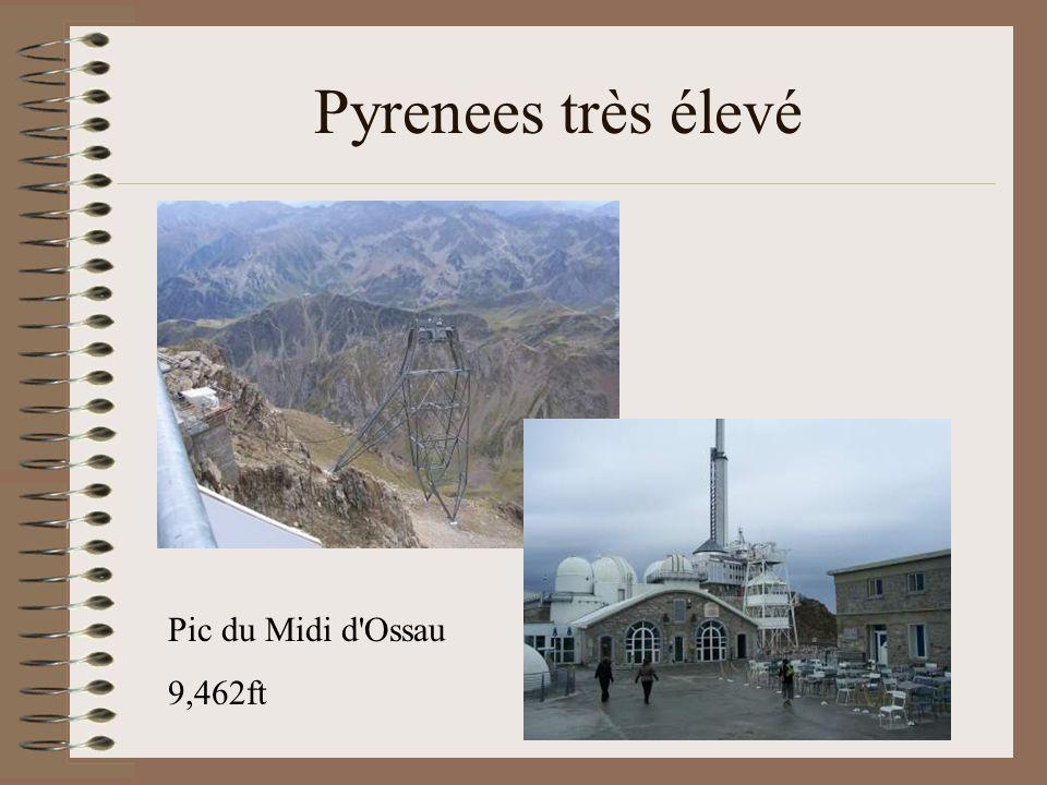 Pyrenees très élevé Pic du Midi d Ossau 9,462ft