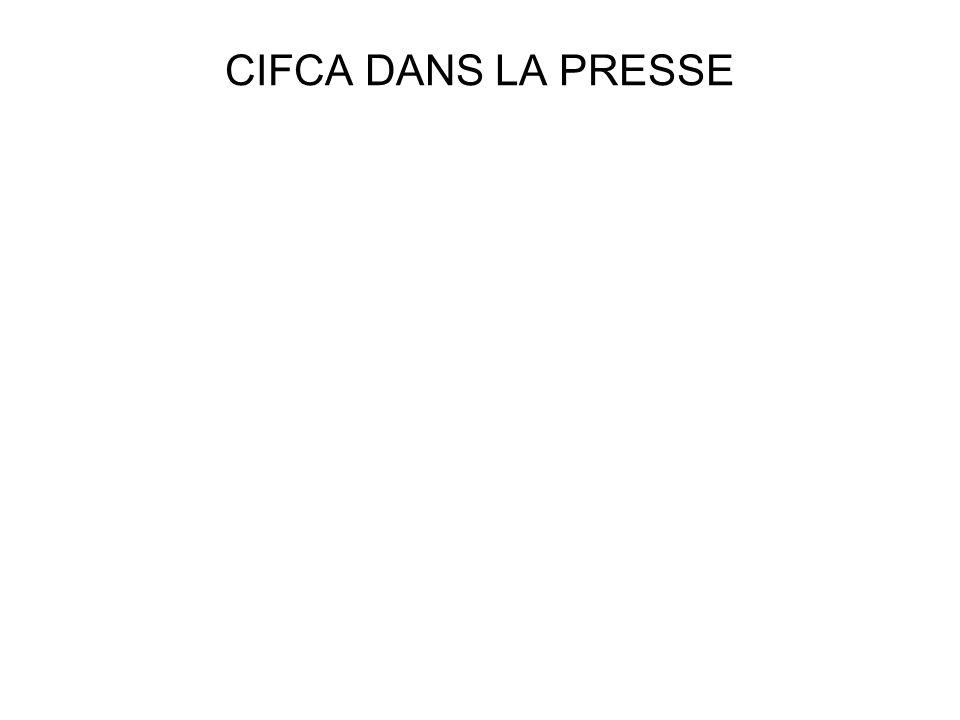 CIFCA DANS LA PRESSE