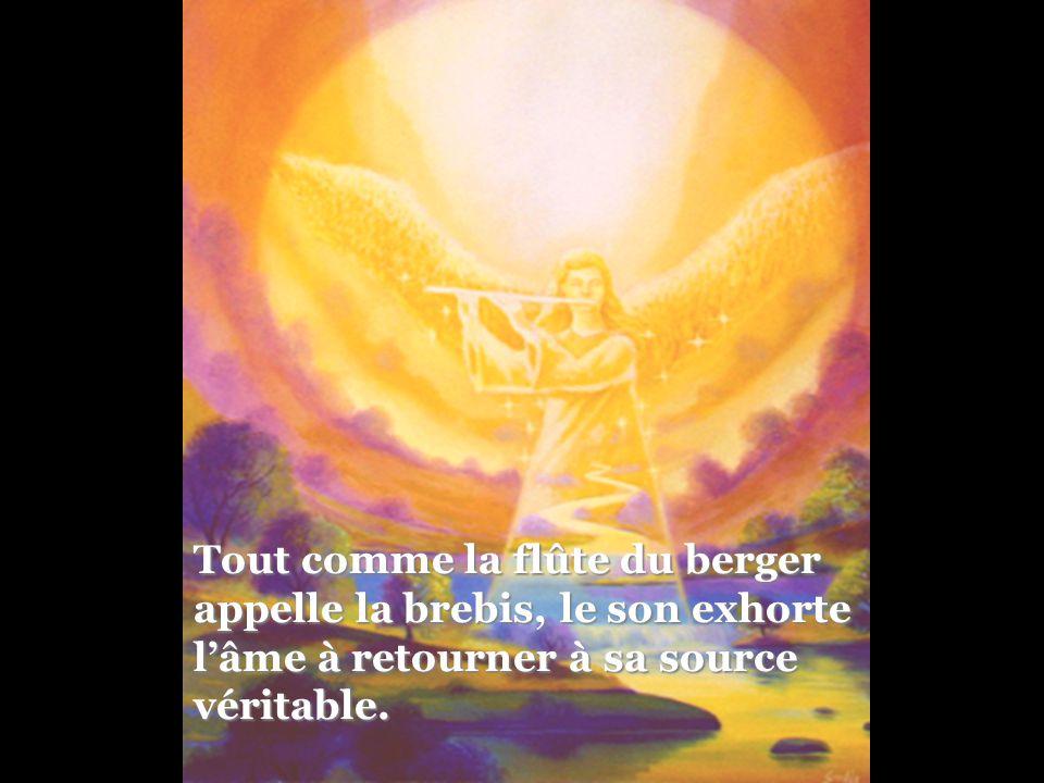 Tout comme la flûte du berger appelle la brebis, le son exhorte l'âme à retourner à sa source véritable.