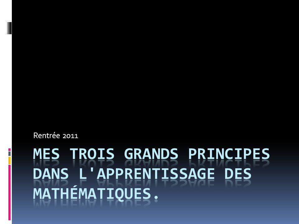 La mathématique c est la langue de la science. Elle possède ses propres règles.