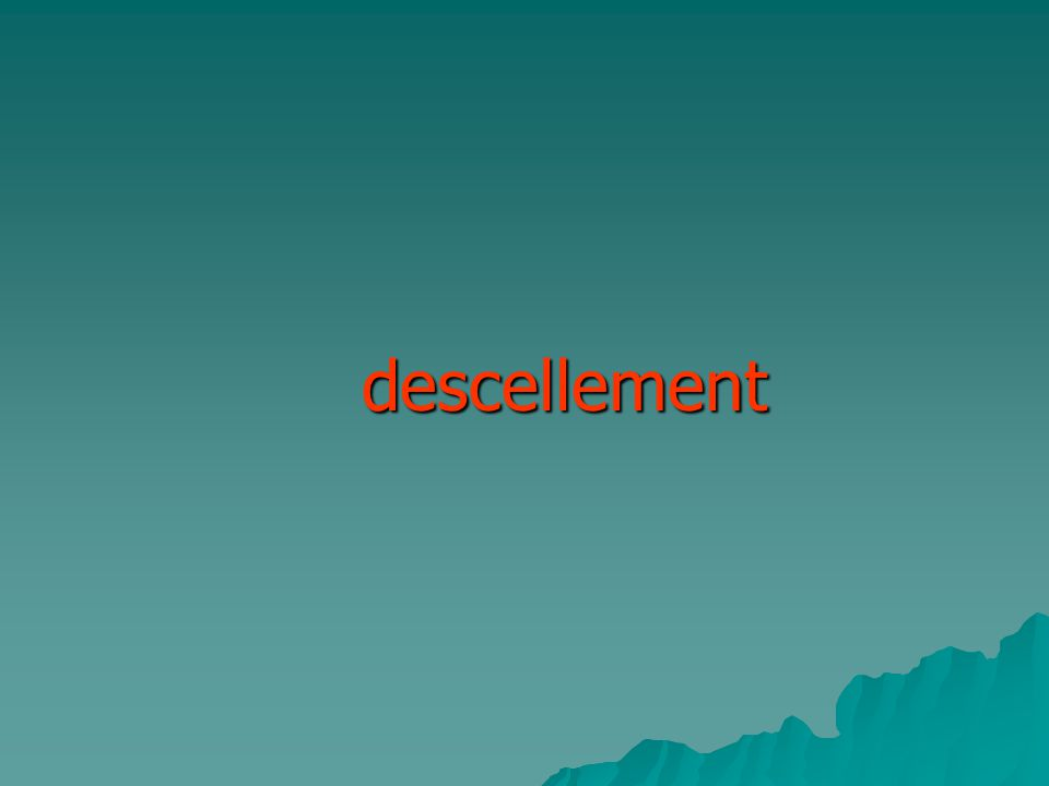 descellement