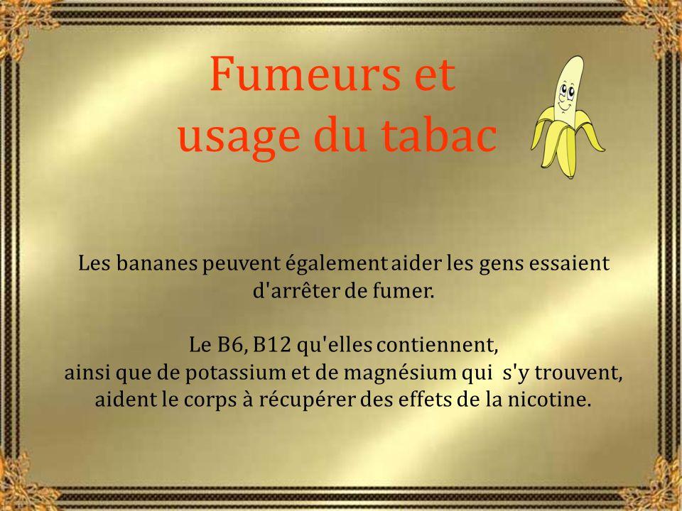 La banane peut aider ceux qui souffrent de désordre affectif saisonnier car elle maintient l humeur naturelle par accroissement de tryptophane.