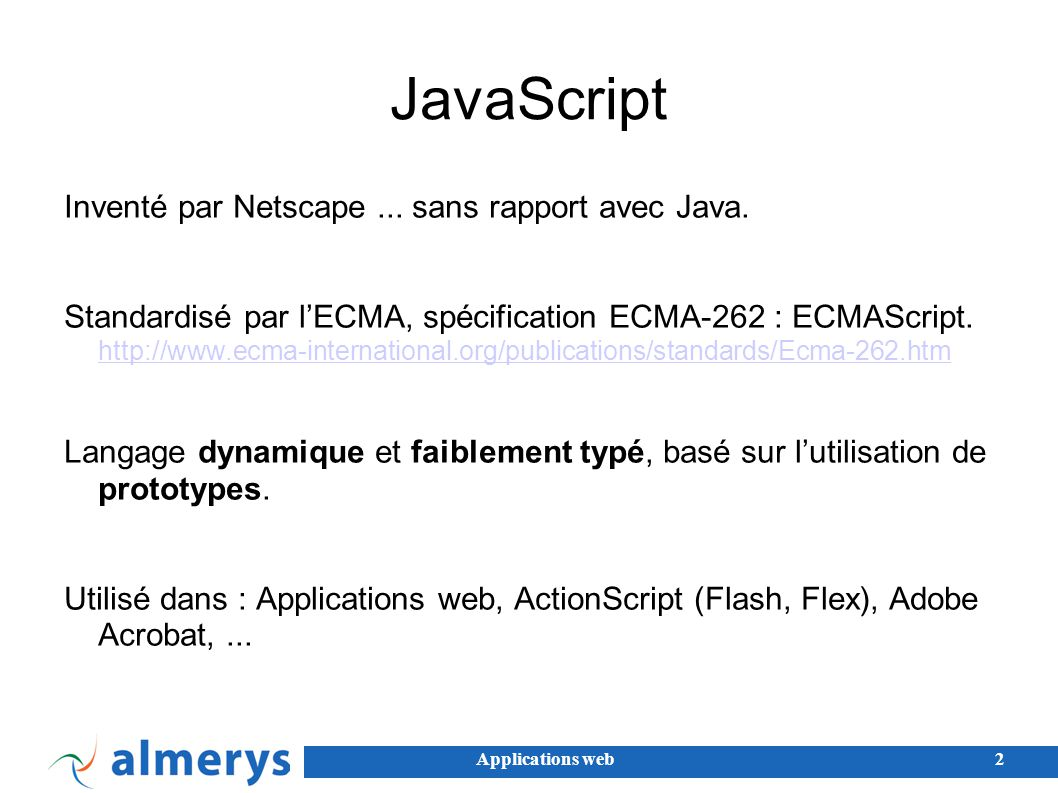 Applications web13 Communications et AJAX