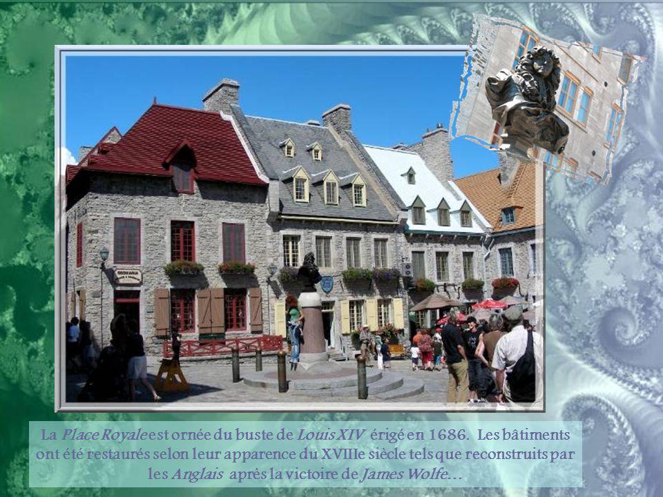 L'église Notre-Dame-des-Victoires est construite sur les vestiges de la deuxième habitation de Champlain.
