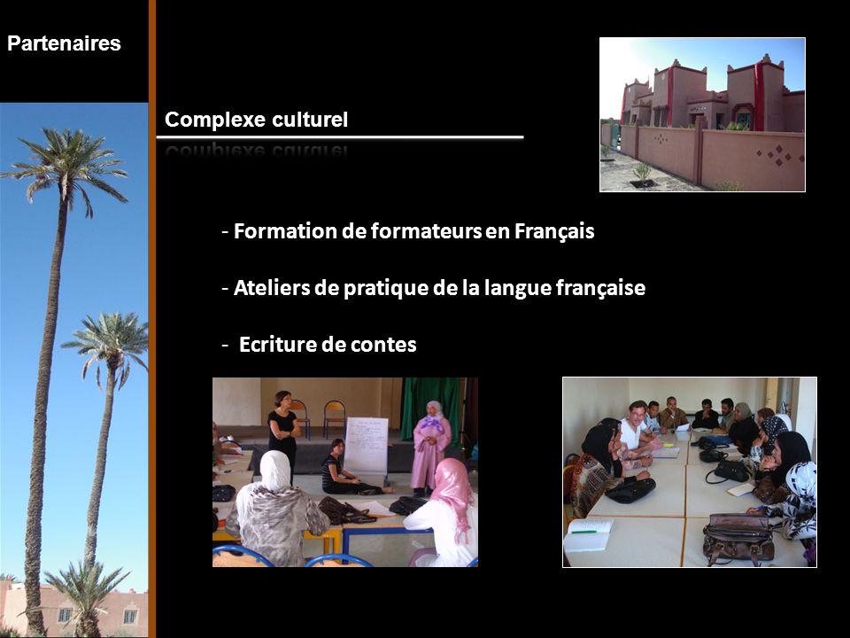 Partenaires - Formation de formateurs en Français - Ateliers de pratique de la langue française - Ecriture de contes