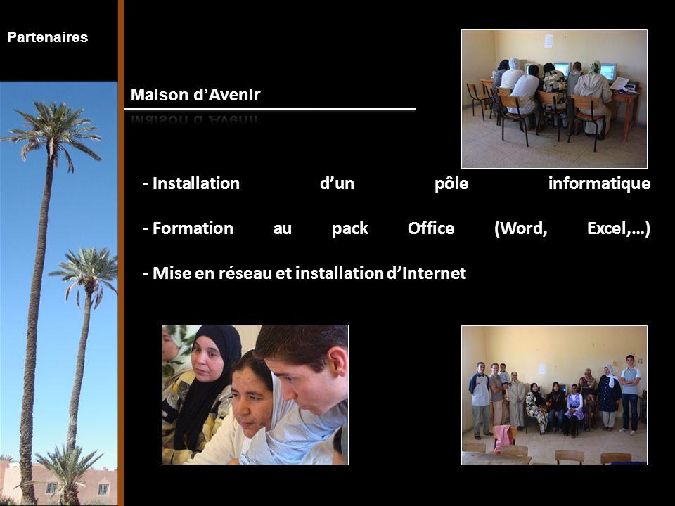 Partenaires - Mise en place d'activités, d'échanges et de rencontres avec des groupes d'étudiants ou des jeunes, dans le cadre d'un partenariat - Soutien à l'organisation d'un centre de vacances à Aguelmous