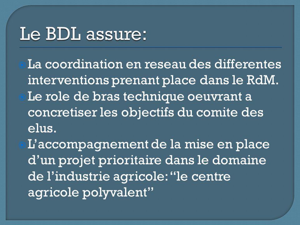  La coordination en reseau des differentes interventions prenant place dans le RdM.