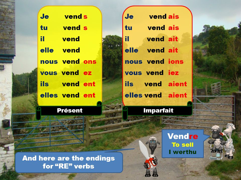 Here are the other endings for the IR verbs.