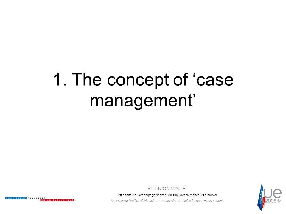 RÉUNION MISEP L'efficacité de l'accompagnement et du suivi des demandeurs d'emploi Achieving activation of jobseekers: successful strategies for case management Which services.