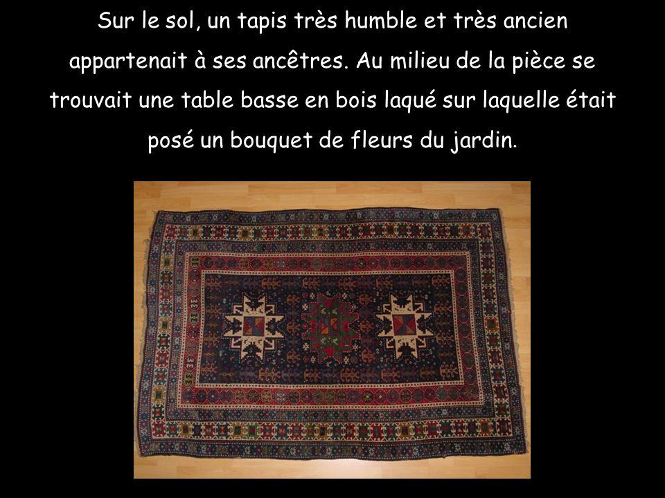 Sur le sol, un tapis très humble et très ancien appartenait à ses ancêtres.