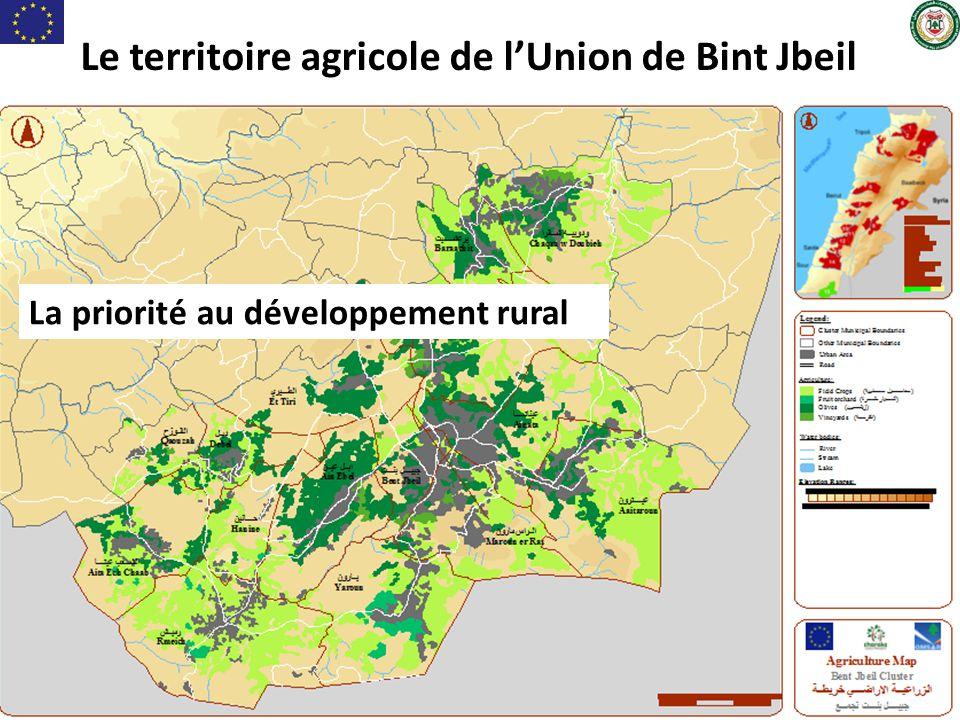 Le territoire agricole de l'Union de Bint Jbeil La priorité au développement rural
