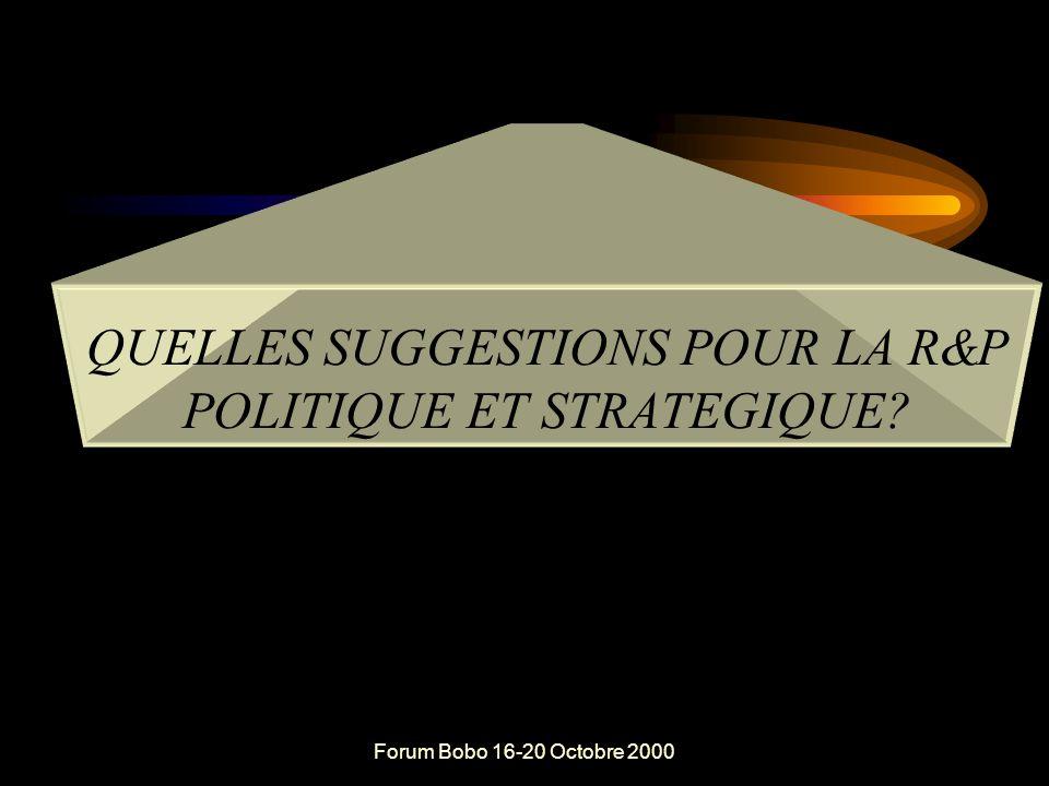 Forum Bobo 16-20 Octobre 2000 Les suggestion de Koudougou en matière de Responsabilisation (opérationnelle) dans la GRN (suite): Simplifier les conditions et les procédures de transfert de la GRN aux collectivités et populations locales.