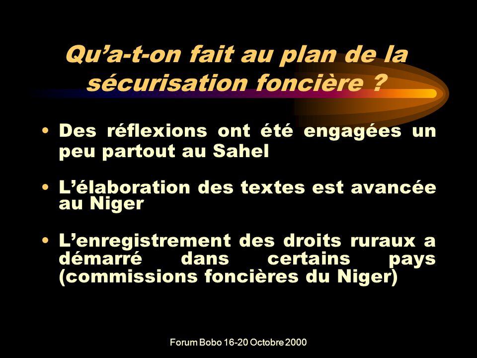 Forum Bobo 16-20 Octobre 2000 A-t-on encouragé la gestion décentralisée .
