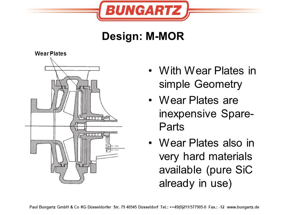 Paul Bungartz GmbH & Co KG Düsseldorfer Str. 79 40545 Düsseldorf Tel.: ++49(0)211/577905-0 Fax.: -12 www.bungartz.de Design: M-MOR With Wear Plates in