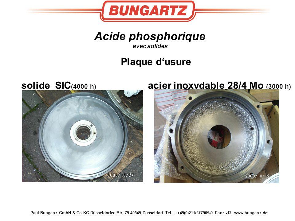 Paul Bungartz GmbH & Co KG Düsseldorfer Str. 79 40545 Düsseldorf Tel.: ++49(0)211/577905-0 Fax.: -12 www.bungartz.de Acide phosphorique avec solides P