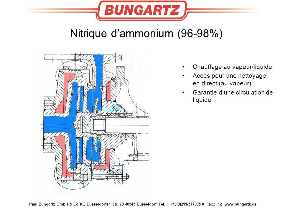 Paul Bungartz GmbH & Co KG Düsseldorfer Str. 79 40545 Düsseldorf Tel.: ++49(0)211/577905-0 Fax.: -12 www.bungartz.de Nitrique d'ammonium (96-98%) Chau