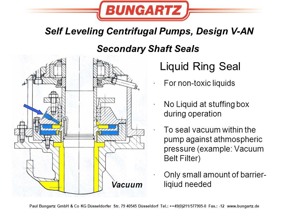 Paul Bungartz GmbH & Co KG Düsseldorfer Str. 79 40545 Düsseldorf Tel.: ++49(0)211/577905-0 Fax.: -12 www.bungartz.de Self Leveling Centrifugal Pumps,
