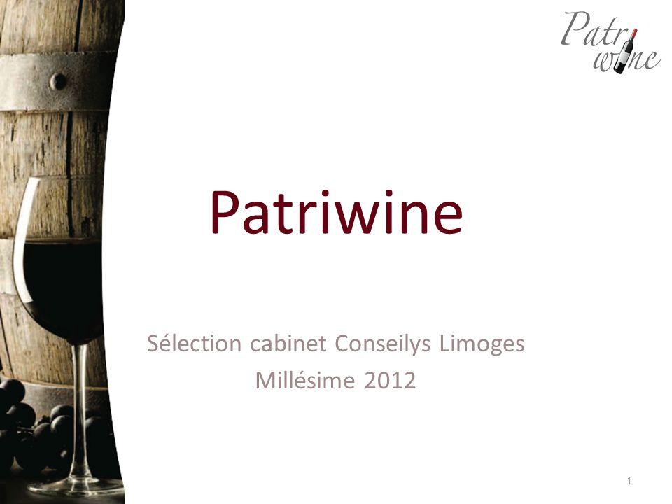Patriwine Sélection cabinet Conseilys Limoges Millésime 2012 1