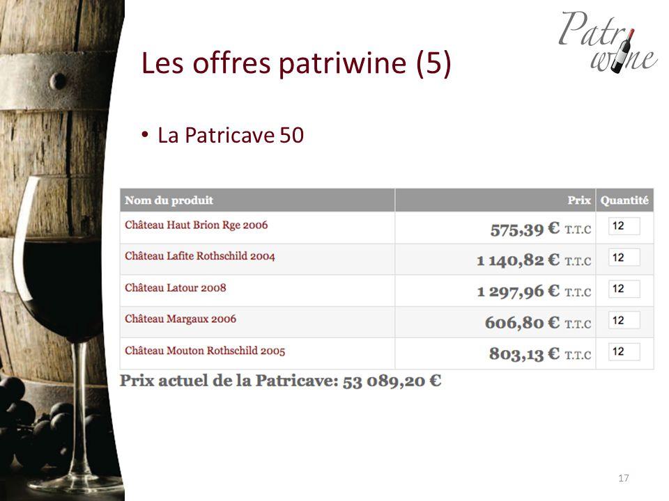 Les offres patriwine (5) La Patricave 50 17
