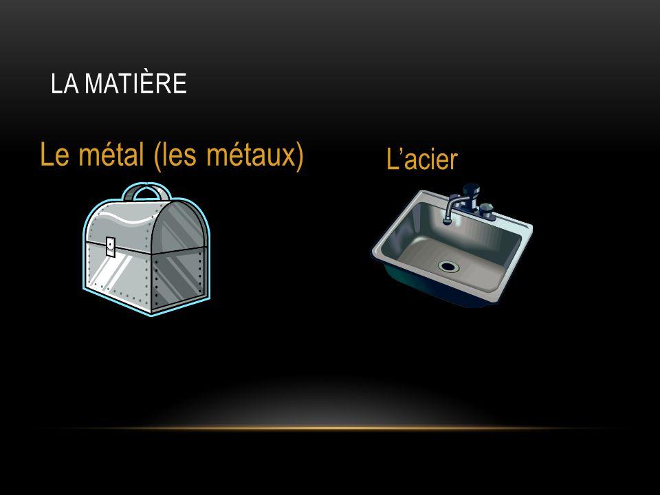 LA MATIÈRE Le métal (les métaux) L'acier