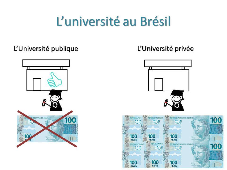 L'université au Brésil L'Université publique L'Université privée
