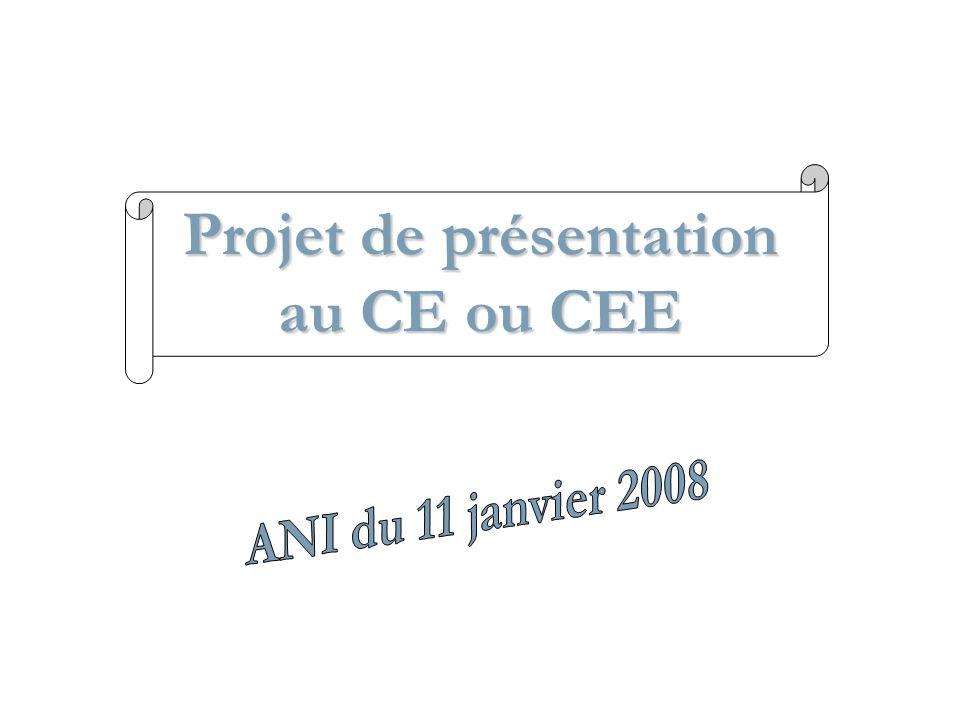 Projet de présentation au CE ou CEE