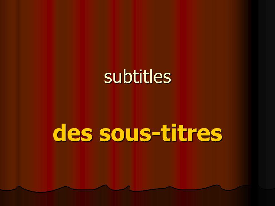 subtitles des sous-titres