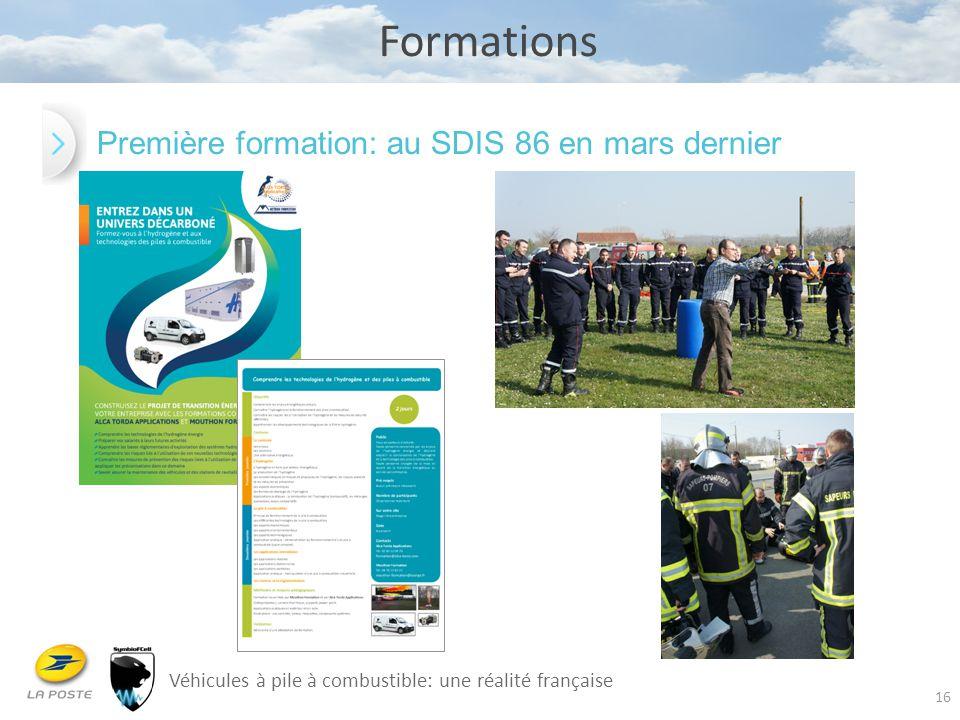 16 Formations Véhicules à pile à combustible: une réalité française Première formation: au SDIS 86 en mars dernier