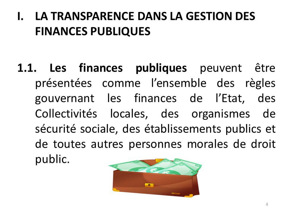 . Il serait alors intéressant de s'interroger sur la contribution des structures administratives de contrôle à la manifestation de la transparence dan