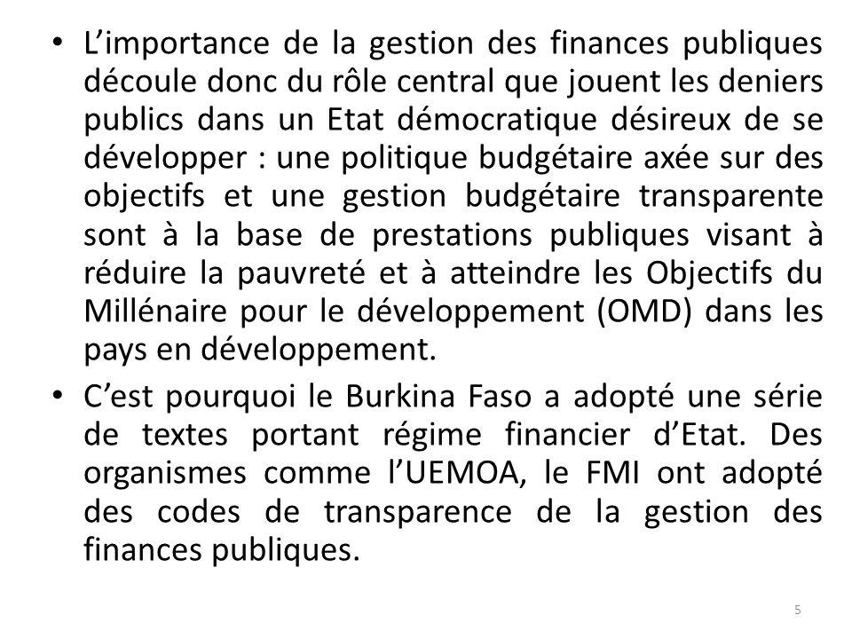 . I.LA TRANSPARENCE DANS LA GESTION DES FINANCES PUBLIQUES 1.1. Les finances publiques peuvent être présentées comme l'ensemble des règles gouvernant