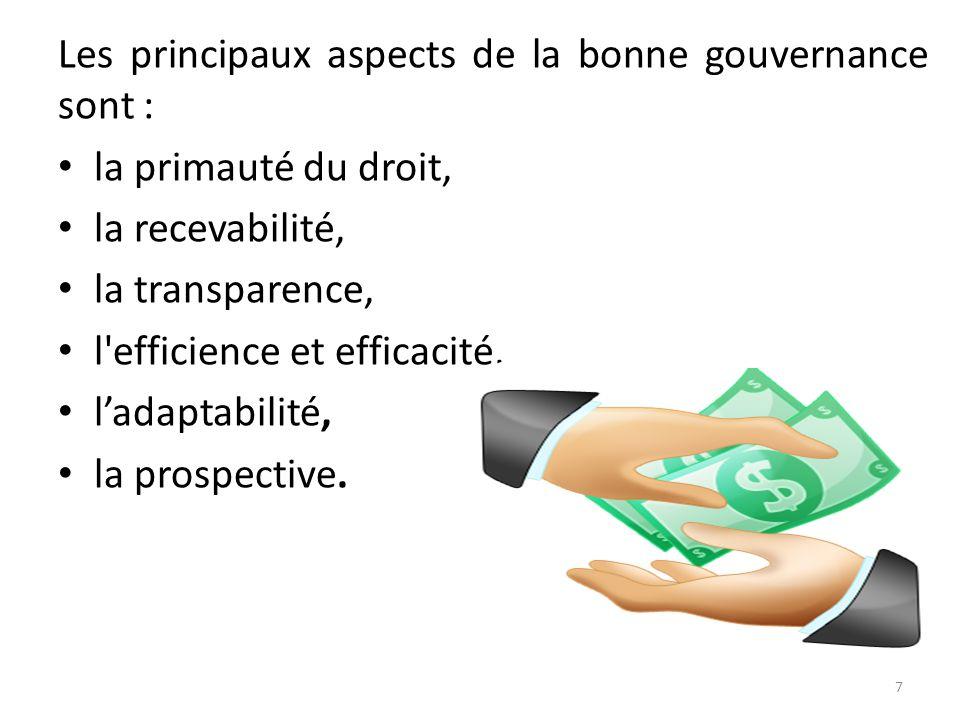. On ne peut parler de transparence dans la gestion des finances publiques sans évoquer la bonne gouvernance. 1.2. La gouvernance se définit de manièr