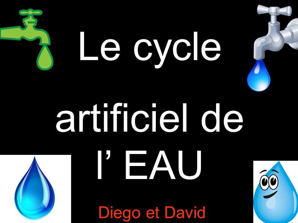 Le cycle artificiel de l'eau est constitué de différentes étapes qui commencent par le captage de l'eau dans le milieu naturel et termine par le retour de l'eau épurée non-utilisée dans le milieu naturel.