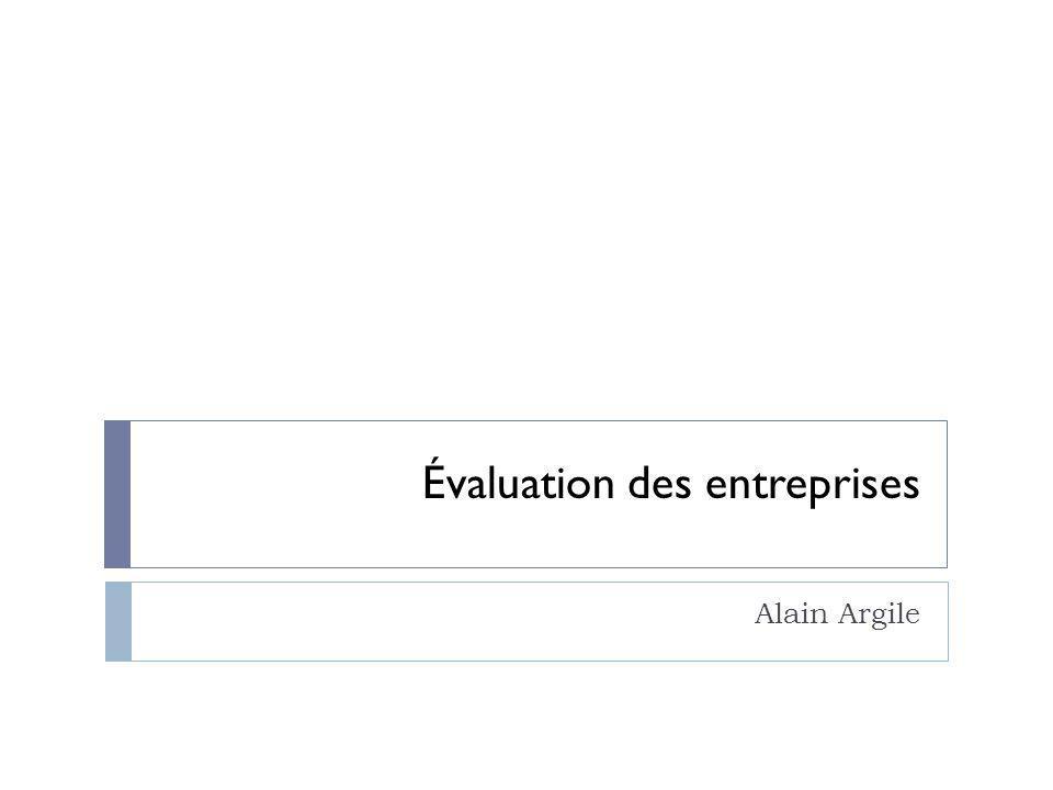 Évaluation des entreprises Alain Argile