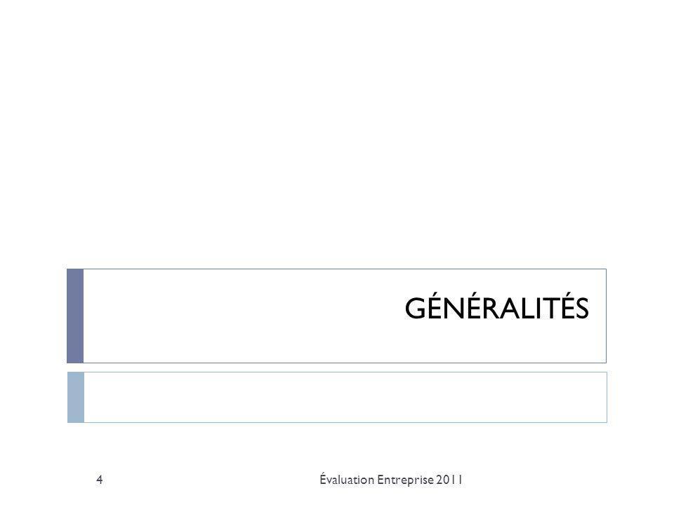 Actifs financiers mondiaux Évaluation Entreprise 20115