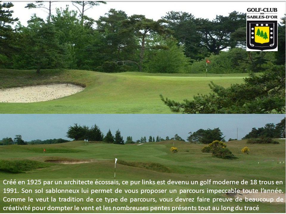 Créé en 1925 par un architecte écossais, ce pur links est devenu un golf moderne de 18 trous en 1991. Son sol sablonneux lui permet de vous proposer u