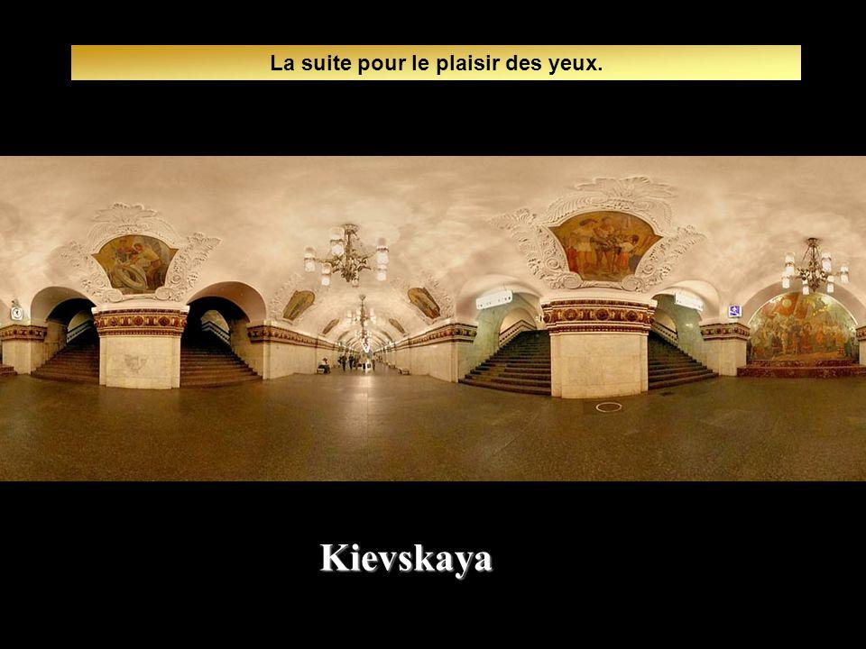 Le métro circule de 5:30 heure à 1:30 du matin à une cadence d un train par minute. Kievskaya