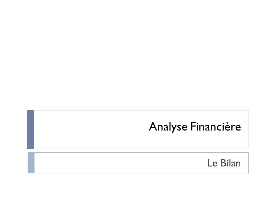Analyse Financière Le Bilan