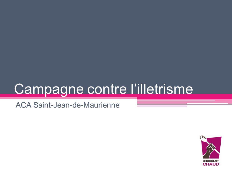 Campagne contre l'illetrisme ACA Saint-Jean-de-Maurienne