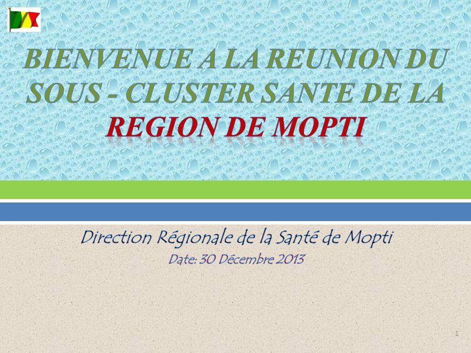 I.Etat de mises en œuvre des activités programmées du sous cluster santé II.
